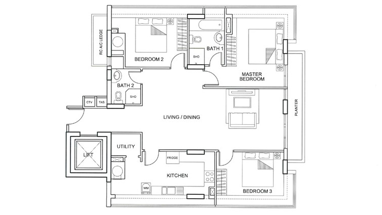 apartments with 3 bedrooms. 6 3 Bedroom Serviced Apartment Singapore